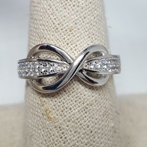 Jewelry - Sterling Silver Infinity Pavé Ring